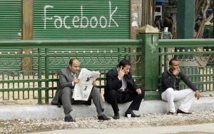 Facebook in Tahrir square